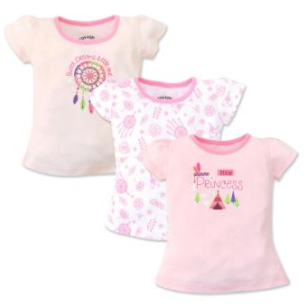 Cotton Stuff - 3-piece Short Sleeve Fitted Blouse (Little Princess)3-6 Months