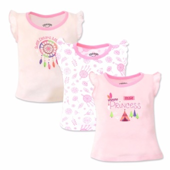 Cotton Stuff - 3-piece Sleeveless Ruffle Blouse (Little Princess)6-9 Months
