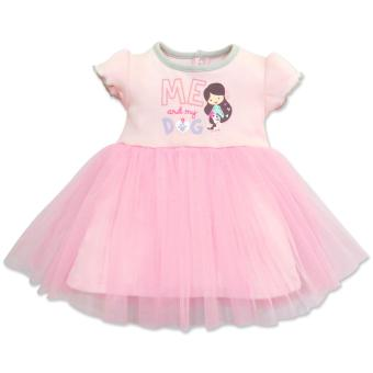 Cotton Stuff - Short Sleeve Tutu Dress - (Me & My Dog) 9-12 Months Price Philippines