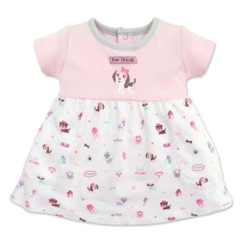 Cotton Stuff - Short Sleeve Twirl Dress - (Me & My Dog) 3-6 Months Price Philippines