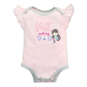 Cotton Stuff - Sleeveless Bodysuit with Ruffles - (Me & My Dog) 3-6 Months Price Philippines