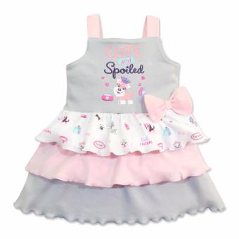 Cotton Stuff - Sleeveless Layered Dress - (Me & My Dog) 9-12 Months Price Philippines