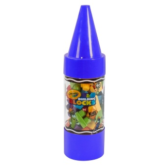 "Crayola Kids@Work 40-Piece Blocks in 22"" Crayon Tube (Blue) Price Philippines"