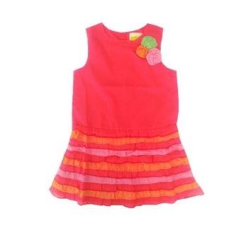 Crazy 8 Tiered Dress - (Hot Pink) - picture 2