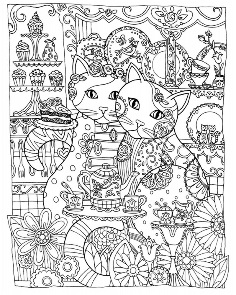 Creative Haven Cats Colouring Book For Adults AntistressColoring Secret Garden Series Adult Coloring