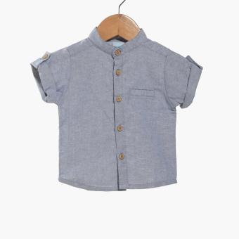Crib Couture Baby Boys Mandarin Casual Shirt (Blue)