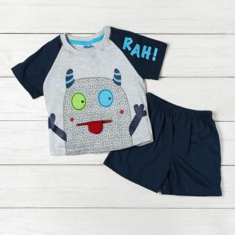 Crib Couture Baby Boys Rah! Tee and Shorts Set (Gray)