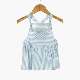 Crib Couture Baby Girls Striped Jumper Dress (Blue)