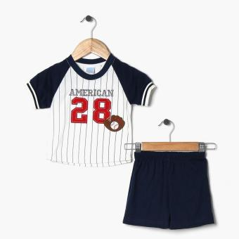 Crib Couture Boys American 28 Tee And Shorts Set Navy Blue Lazada PH