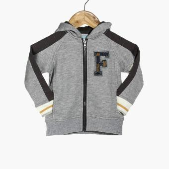 Crib Couture Boys F Hooded Jacket (Gray)