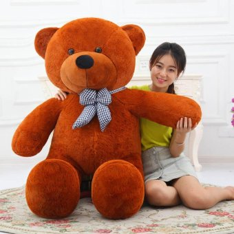 Cute Dark Brown Stuffed Toys Animal Teddy Bear Plush Soft Toy 80CM- intl