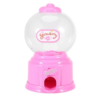 Cute Mini Candy Vending Machine Bubble Gum Dispenser Snack Container Holder Kids Toy Gift(Pink) - intl