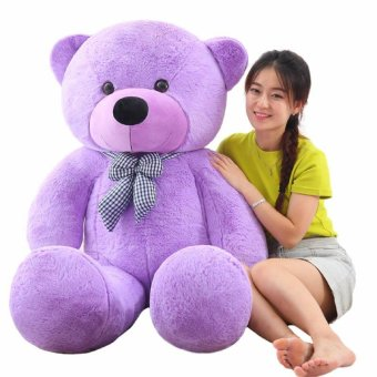 Cute Purple Stuffed Toys Animal Teddy Bear Plush Soft Toy 80CM -intl