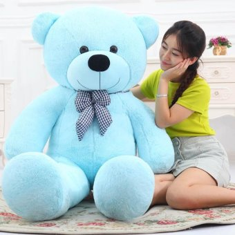Cute Sky Blue Stuffed Toys Animal Teddy Bear Plush Soft Toy 100CM - intl