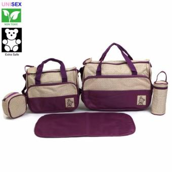 Cutie 5 Piece Set Diaper Bag (Violet) Price Philippines