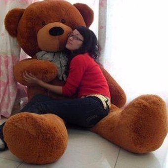 Dark Brown Stuffed Toys Animal Cute Teddy Bear Plush Soft Toy Birthday Present 80CM - intl