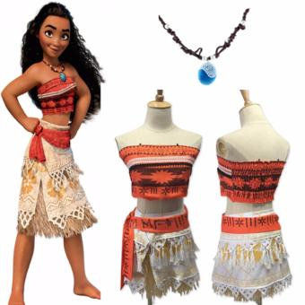 DCB Moana Costume with Necklace for Kids Size 110cm Age 3-4 years