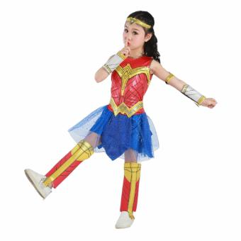 DCB Wonder Woman Costume 2017 Girls Dress Deluxe Size Small Age 3-4years old - 3