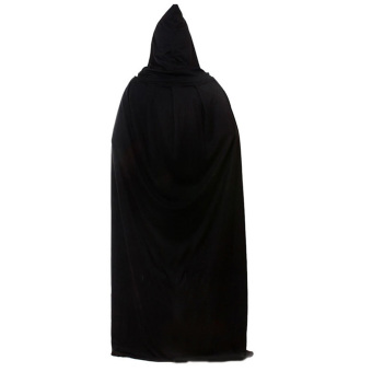 Death Devil Wicca Robe Hoody Cloak Long Tippet Cape for Adult MaleFemale Halloween Costume Theater Fancy Dress Prop