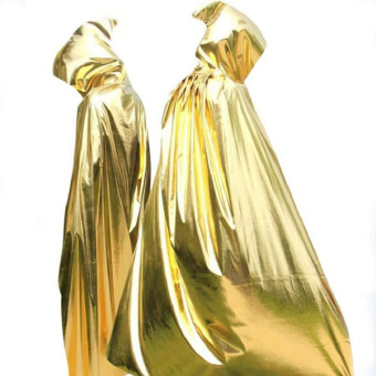 Death dress gold and silver color Vampire ghost mopping cloak Cape