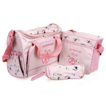 DHS Diaper Shoulder Handbag 4 piece Set - Intl