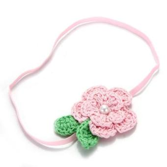 DHS Flower Hairband Elastic Light Pink (Intl) - picture 2