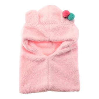 DHS Hooded Neck Warmer Scarf Winter Pink - Intl