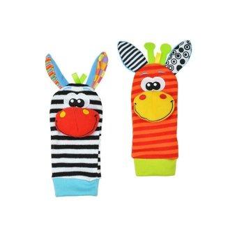 DHS Infant Baby Rattles Toys Developmental Socks Random Color - Intl