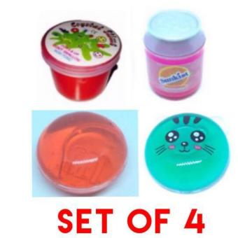 Different Kinds of Tiny Slime Goo Toy Assorted Set of 4 (colors anddesign on pic)