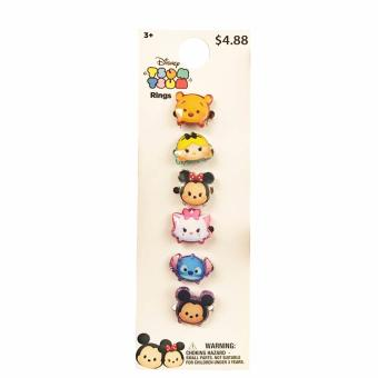 Disney Tsum Tsum Rings Set of 6 on a Card Price Philippines