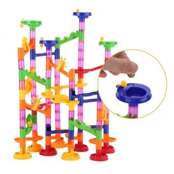DIY Construction Marble Race Run Maze Balls Track Building BabyGift Educational Toy - intl - 2
