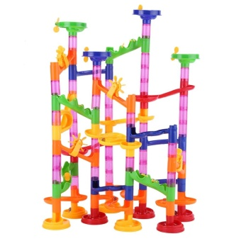 DIY Construction Marble Race Run Maze Balls Track Building BabyGift Educational Toy - intl