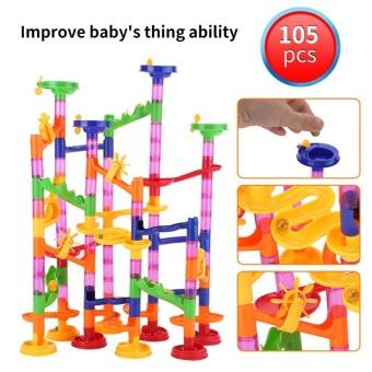 DIY Construction Marble Race Run Maze Balls Track Building BabyGift Educational Toy - intl - 4