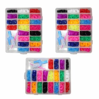 DIY Multi-color Loom bands set of 3