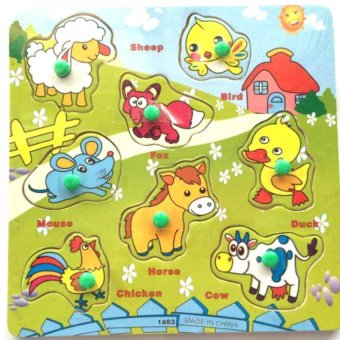 Domestic Animal Wooden Puzzle Toy