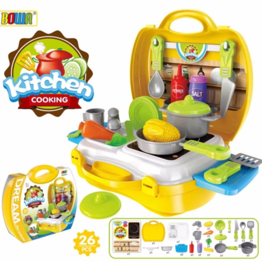Dream The Suitcase Kitchen Cooking Play Set For KIDS Boy Girls Toy