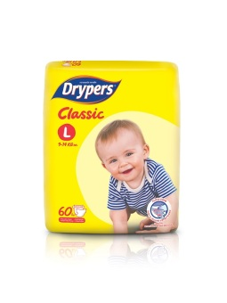 Drypers Classic Family Pack Large 60's Pack of 4