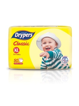 Drypers Classic Family Pack XL 50's Pack of 4