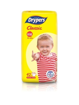 Drypers Classic Family Pack XXL 42's Pack of 4 Price Philippines