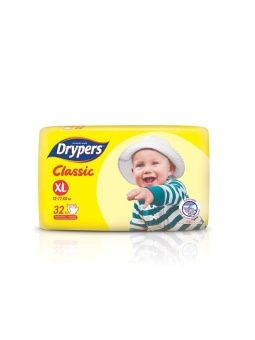 Drypers Classic Value Pack XL 32's Pack of 5