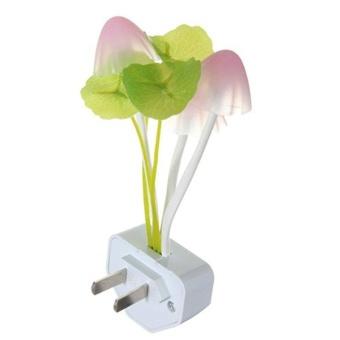 DSstyles Creative Design Energy Saving Light Induction ControlSensor Multi-color Mushroom LED Night Light Plug-in Wall LampBedroom Decor - intl - 2