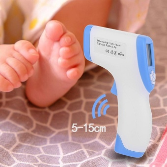 DT-8809C Non-Contact Temperature Infrared Thermometer for Body withFever Indicator (Blue) - intl