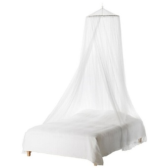 Durable Baby Mosquito Net Baby Toddler Bed Crib Canopy MosquitoNetting (White)