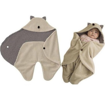 Eachgo Infants Baby Cotton Swaddle Sleep Bag Blanket Hooded Wrap Cloth - intl