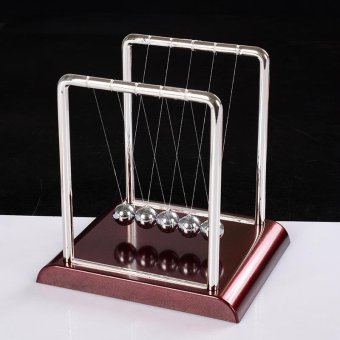 Early Educational Toy Gift Newtons Cradle Steel Balance BallPhysics Science Pendulum - intl