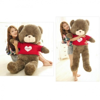 Eason 60cm Fluffy toys Plush Cloth Doll Toy Plush Stuffed Animals Giant Teddy Bear Toys (Red Love Sweater) Hot Sale - intl