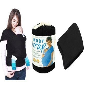 Eco Cub Baby Wrap Carrier Infant Sling (Black) with Lose Belly Fat Slimming Belt Black