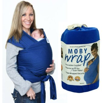 Eco Cub Baby Wrap Carrier Infant Sling (Royal Blue) Price Philippines