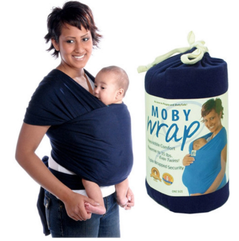 Eco Cub Moby Baby Wrap Carrier for Comfortable Baby Wearing (Blue)