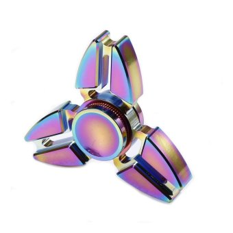 EDC Metal Rainbow Fidget Cube Hand Spinner Toys - intl - 2